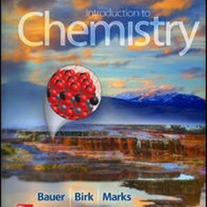 Solution Manual for Introduction to Chemistry 4th Edition Bauer
