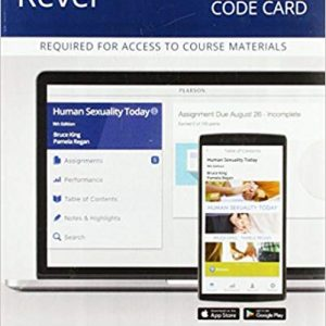 Test Bank for Human Sexuality Today 9th Edition Kin