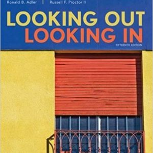 Solution Manual for Looking Out, Looking In 5th Edition Adler