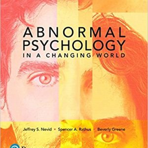 Solution Manual for Abnormal Psychology in a Changing World 10th Edition Nevid