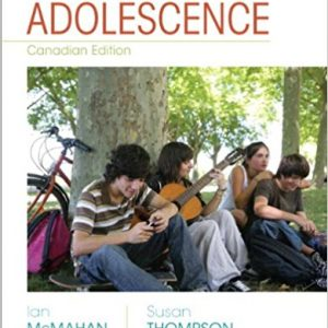 Solution Manual for Adolescence 1st Edition McMahan