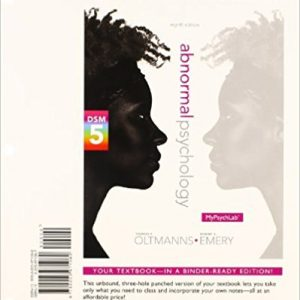 Test Bank for Abnormal Psychology 8th Edition Oltmanns