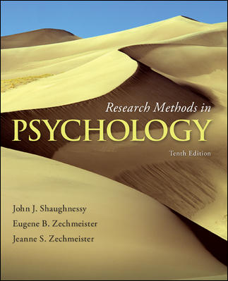 Test Bank for Research Methods in Psychology 10th Edition Shaughnessy