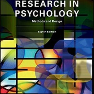 Test Bank for Research In Psychology Methods and Design 8th Edition Goodwin