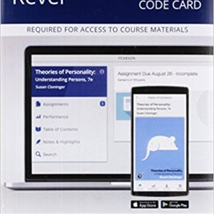 Test Bank for Theories of Personality 7th Edition Cloninger