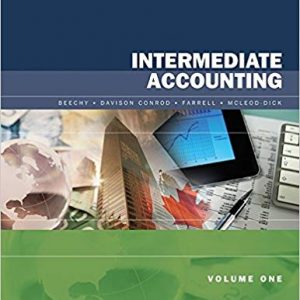 Test Bank for Intermediate Accounting 7th Canadian Edition Beechy