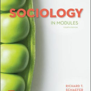 Test Bank for Sociology in Modules 4th Edition Schaefer