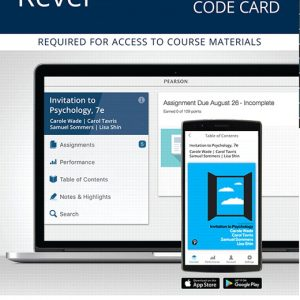 Solution Manual for Revel for Invitation to Psychology 7th Edition Wade