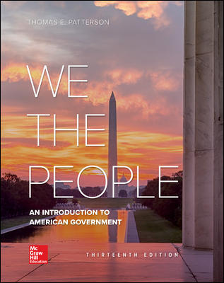 Solution Manual for We The People 13th Edition Patterson