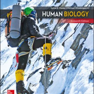 Test Bank for Human Biology 16th Edition Mader