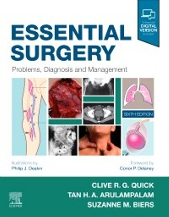 Test Bank for Essential Surgery Problems Diagnosis and Management 6th Edition Quick