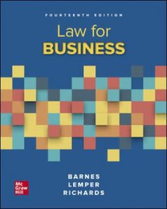 Test Bank for Law for Business 14th Edition Barnes